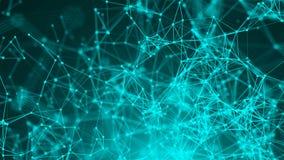 Abstracte verbindingspunten De achtergrond van de technologie Het concept van het netwerk vector illustratie