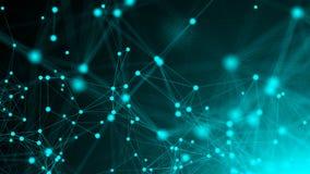Abstracte verbindingspunten De achtergrond van de technologie Het concept van het netwerk het 3d teruggeven Royalty-vrije Stock Afbeelding