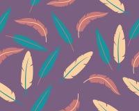 Abstracte veren als achtergrond Stock Afbeelding