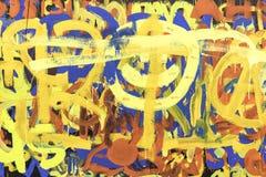 Abstracte Verf Art Multicolored Stock Afbeeldingen