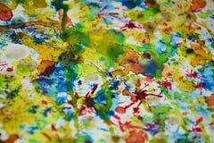 Abstracte verf vage contrasten, de wasachtige creatieve achtergrond van de pastelkleurverf Stock Afbeelding