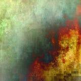 Abstracte verfgradiënt met vierkant toegevoegd net royalty-vrije illustratie