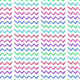 Abstracte verfijnde prachtige elegante grafische mooie kleurrijke gebroken van de het patroonwaterverf van de lijnenzigzag de han Royalty-vrije Stock Foto