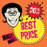 Abstracte verkoopachtergrond Stock Foto
