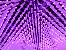 Abstracte verlichtingsbuizen stock afbeelding