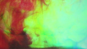 Abstracte videoinkt in water stock video