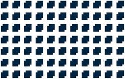 Abstracte Vierkante Achtergrond Patroon donkerblauwe witte geometrisch, tegels op elkaar met een compensatie Royalty-vrije Stock Afbeelding