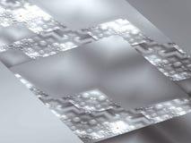 Abstracte vierkante grijze achtergrond Royalty-vrije Stock Fotografie