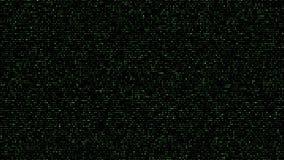 Abstracte Vierkante groene Codeachtergrond vector illustratie