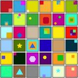 Abstracte vierkante kleurenachtergrond Royalty-vrije Stock Afbeelding