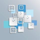 Abstracte vierkante klok vectorachtergrond Royalty-vrije Stock Foto