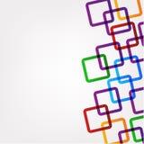 Abstracte vierkante patroonachtergrond Royalty-vrije Stock Fotografie