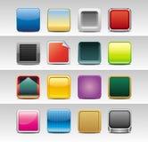 Abstracte vierkante pictogrammen Stock Afbeeldingen
