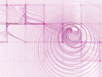 Abstracte Vierkante Roze Achtergrond op Wit Royalty-vrije Stock Afbeeldingen