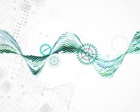 Abstracte vierkanten bedrijfs vectorachtergrond Stock Afbeelding