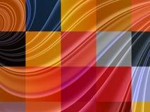 Abstracte vierkanten kleurrijke achtergrond Stock Afbeeldingen