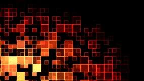 Abstracte Vierkantenanimatie Als achtergrond - Lijnsinaasappel/Rood vector illustratie