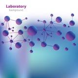 Abstracte violet-blauwe laboratoriumachtergrond. Royalty-vrije Stock Fotografie