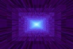 Abstracte violette gradi?ntachtergrond Textuur met rechthoekige blokken in perspectief Het Licht van het moza?ekpatroon aan het e vector illustratie