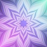 Abstracte violette ster stock illustratie