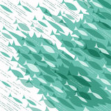 Abstracte vissenachtergrond Royalty-vrije Stock Afbeeldingen