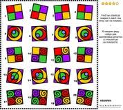 Abstracte visuele riddle - vind twee identieke beelden Royalty-vrije Stock Afbeeldingen