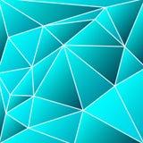 Abstracte vitrage - driehoekige schaduwen van azuurblauw net vector illustratie