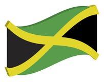 Abstracte Vlag van Jamaïca Stock Illustratie