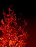 Abstracte Vlammen stock illustratie