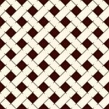 Abstracte vlechtenachtergrond Naadloos oppervlaktepatroon met herhaalde diagonale weefsel rechthoekige tegels Rieten behang vector illustratie