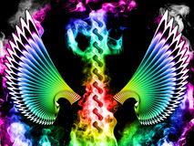Abstracte vleugels vector illustratie