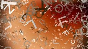 Abstracte, vliegende brieven in diverse kleuren royalty-vrije illustratie