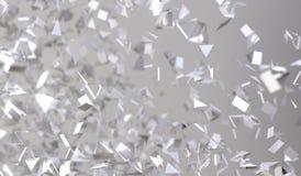 Abstracte Vliegende Chaotische Deeltjes Stock Fotografie