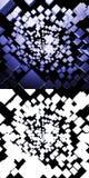 Abstracte vliegende dozenachtergrond Royalty-vrije Stock Afbeeldingen