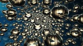 Abstracte vliegende pompoenhoofden in zwarte kleur vector illustratie