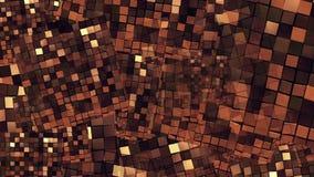 Abstracte vliegende vierkanten stock illustratie