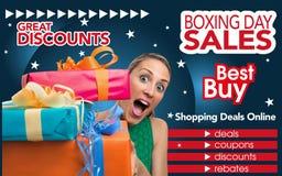 Abstracte vlieger voor het winkelen op Tweede kerstdaghandel Royalty-vrije Stock Fotografie