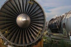 Abstracte vliegtuigmotor Stock Afbeeldingen