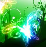 Abstracte vlinder royalty-vrije illustratie