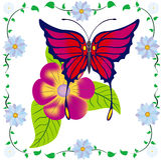 Abstracte vlinder. royalty-vrije illustratie