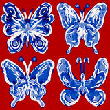 Abstracte vlinder Stock Foto's