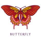 Abstracte vlinder Stock Afbeeldingen