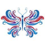 Abstracte vlinder, vectorillustratie Stock Afbeeldingen