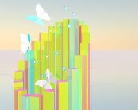 Abstracte vlinderaffiche Royalty-vrije Stock Afbeelding