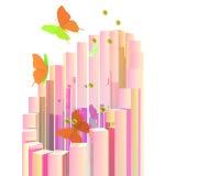 Abstracte vlinderaffiche Royalty-vrije Stock Foto