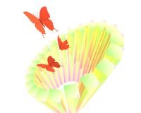 Abstracte vlinderaffiche Stock Fotografie