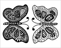 Abstracte vlinders stock illustratie