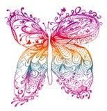 Abstracte vlindertekening Royalty-vrije Stock Afbeeldingen