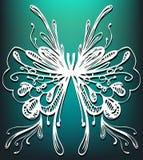 Abstracte vlindertekening Stock Fotografie