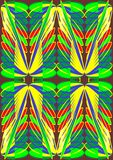 Abstracte vlindervleugel. Stock Afbeeldingen